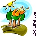 forest fire Vector Clipart image