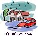 Floods Vector Clipart illustration