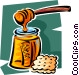 honey and a cracker Vector Clipart graphic