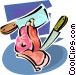 meat cleaver Vector Clip Art picture