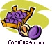 basket of plums Vector Clipart illustration