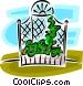 garden trellis Vector Clip Art image