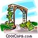 garden trellis Vector Clip Art picture