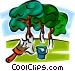 painting trees to avoid insect Vector Clip Art graphic