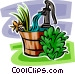 hand water pump Vector Clipart illustration