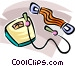 weight scale, skipping rope Vector Clip Art image