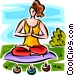 woman doing yoga Vector Clipart illustration
