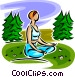 woman doing yoga Vector Clip Art image