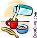 milk carton, coffee cup, cold cereal Vector Clipart image