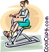 Woman working on an exercise Vector Clipart picture