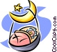 sleeping baby Vector Clipart picture