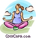 pregnant woman doing yoga Vector Clip Art image