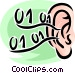 human ear Vector Clip Art graphic
