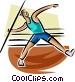 Javelin toss Vector Clip Art graphic