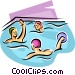 water polo players Vector Clip Art picture