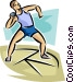 Man throwing shot put Vector Clipart graphic
