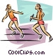 relay runners Vector Clipart picture