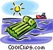 air mattress Vector Clip Art graphic