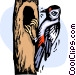 Woodpeckers Vector Clipart image