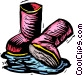 rubber boots Vector Clipart picture