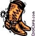 Cowboy Boots Vector Clip Art image
