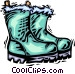 winter boots Vector Clipart graphic