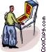 pinball player Vector Clip Art image