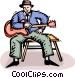 blues man Vector Clip Art picture