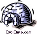 igloo Vector Clipart graphic