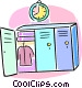school lockers Vector Clip Art picture