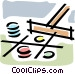 gambling chips Vector Clipart graphic