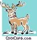 reindeer Vector Clipart image