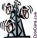 microwave towers Vector Clip Art image