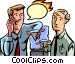two people talking at the Vector Clip Art graphic