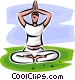 woman doing yoga Vector Clipart image
