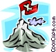 flag on the summit on a Vector Clipart graphic