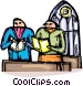 parishioners Vector Clipart illustration