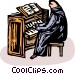 Person playing the church Vector Clip Art image