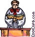 priest Vector Clip Art image