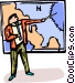 news weatherman Vector Clipart image