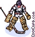 Hockey goalie Vector Clip Art graphic