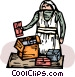 working in soup kitchen Vector Clip Art image