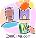 Home fire insurance concept Vector Clip Art picture