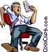Exhaustion Vector Clipart graphic
