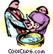 Minister Baptizing an infant Vector Clipart picture