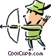 Robin Hood with his bow and Vector Clipart image