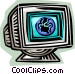 monitor Vector Clipart picture