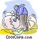 Nest Eggs Vector Clipart image