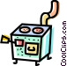 Wood Stoves Vector Clip Art image
