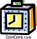 Punch Clocks Vector Clipart image